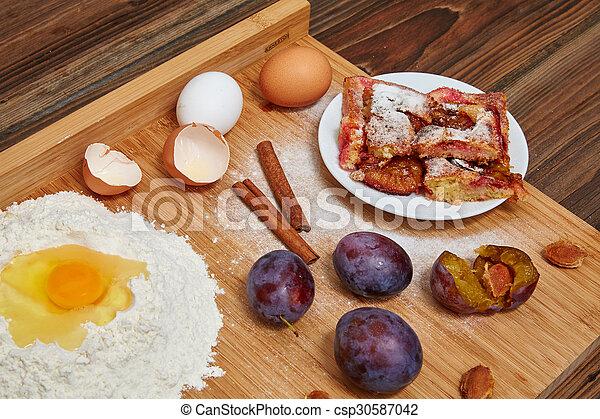 Pflaumenkuchen Backen Pflaumenkuchen Zubereitung Mit Mehl Eiern