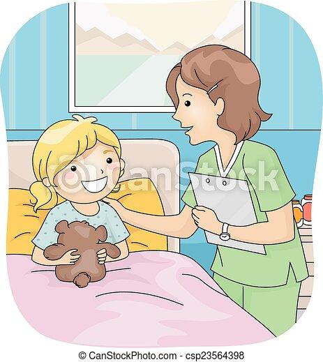 pflegen patienten - csp23564398
