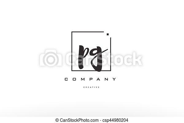 Pg P G Hand Writing Letter Company Logo Icon Design Pg P G Hand