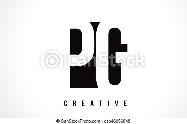 Pg P G White Letter Logo Design With Black Square Pg P G White