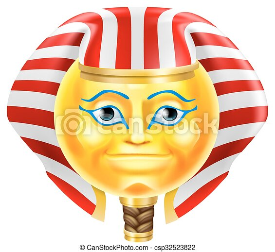 Pharaoh Emoji Emoticon - csp32523822