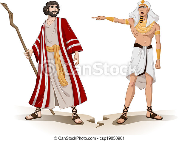 pharaoh sends moses away for passover vector illustration vector rh canstockphoto com pharaoh clipart black and white pharaoh clipart free