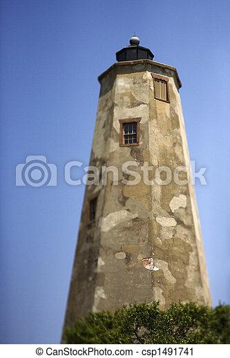 phare, chauve, island., tête - csp1491741