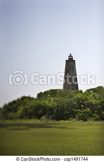phare, chauve, island., tête - csp1491744
