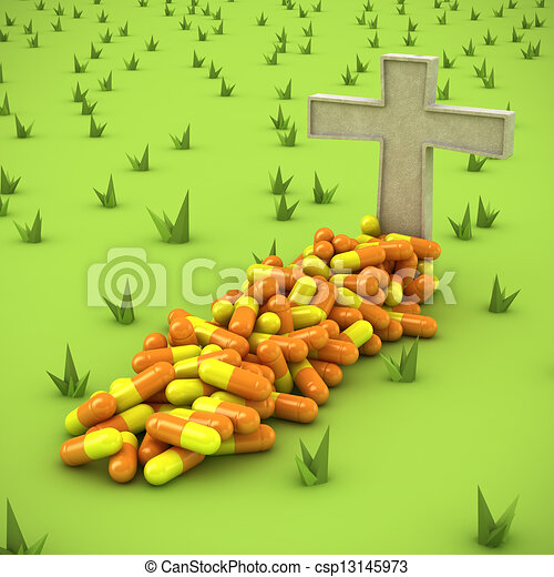 Pharmaceutical grave - csp13145973