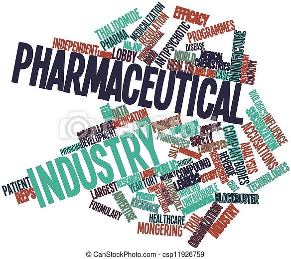 Abstract word cloud for pharmaceutical industry with ...