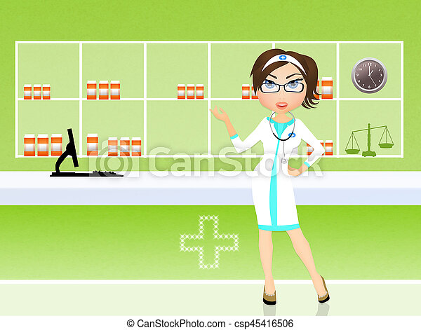 pharmaceutical industry - csp45416506