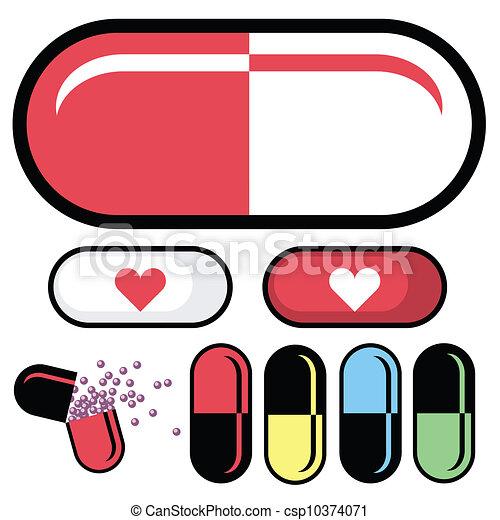 Pharmaceutical pill vector - csp10374071