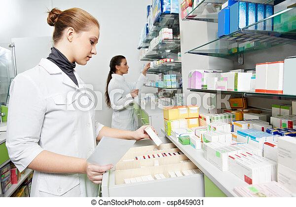 pharmacie, pharmacie, chimiste, femmes - csp8459031