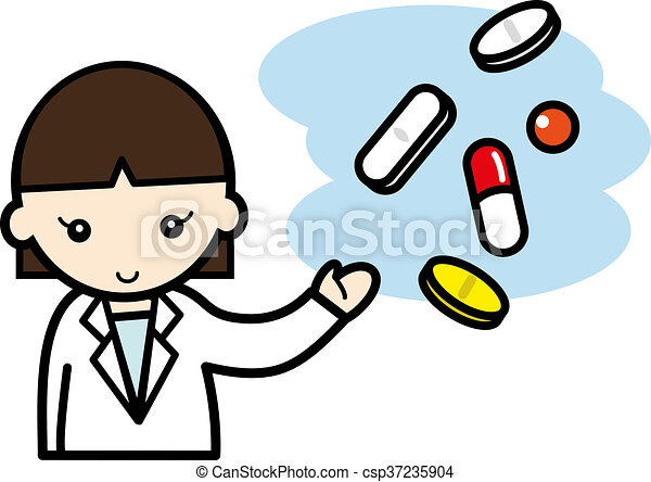 a pharmacist explain about the drugs stock illustration search rh canstockphoto com pharmacy clip art eps ai pharmacy clip art free images