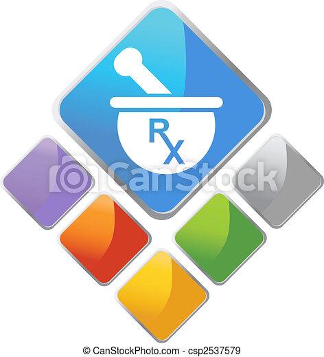 Pharmacy Diamond Icon - csp2537579