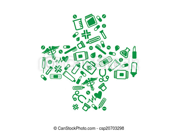 Pharmacy elements green cross - csp20703298
