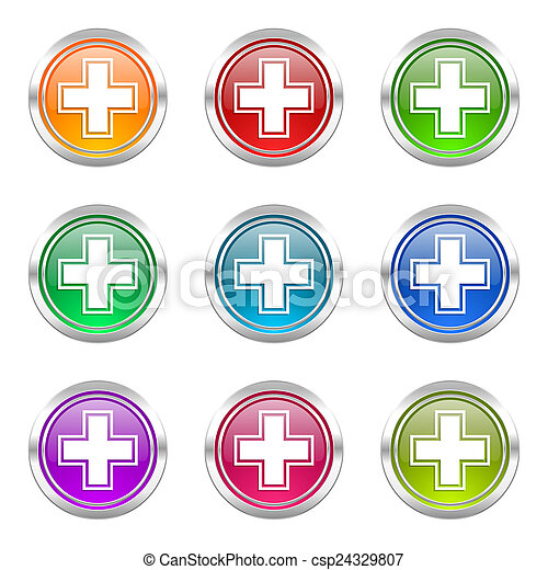 pharmacy icons set - csp24329807