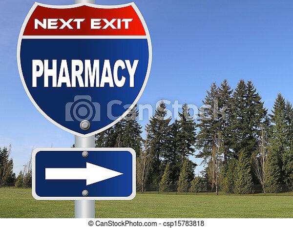 Pharmacy road sign  - csp15783818