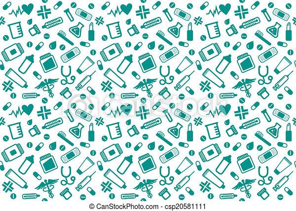Pharmacy seamless pattern - csp20581111