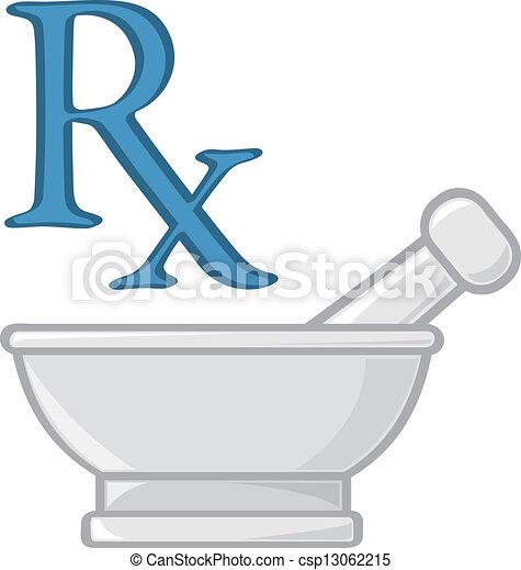 Pharmacy Symbols - csp13062215