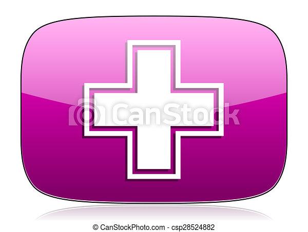pharmacy violet icon - csp28524882