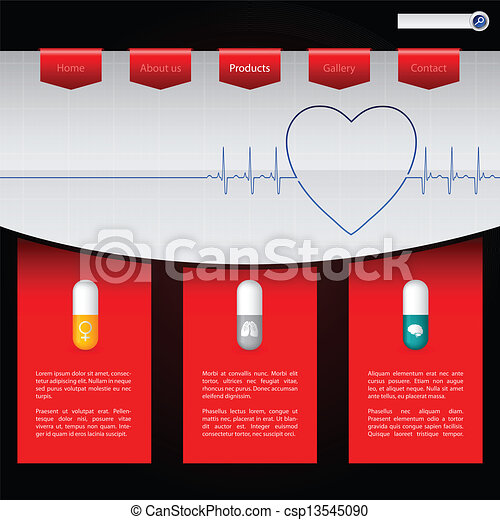Pharmacy website template design with various pills pharmacy website template design csp13545090 maxwellsz