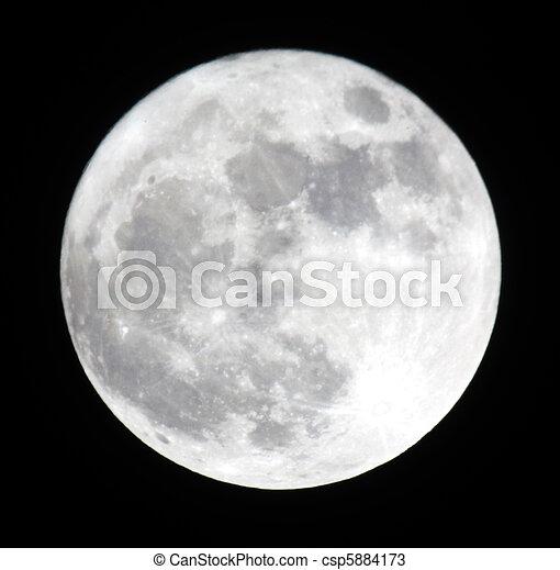 Phase of the moon, full moon. Ukraine, Donetsk region 19.03.11 - csp5884173