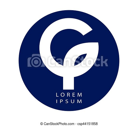 Phi and G Logo Design - csp44151858
