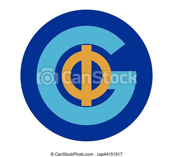 Phi and G Logo Design - csp44151917