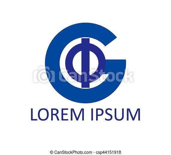 Phi and G Logo Design - csp44151918