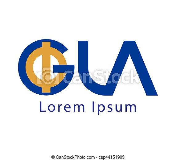Phi and GLA Logo Design - csp44151903