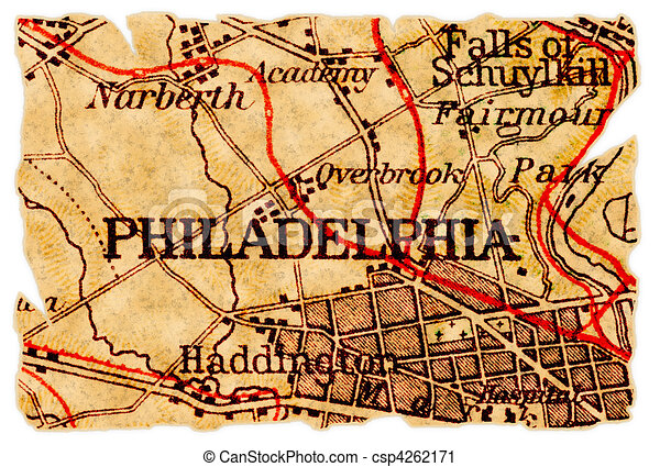 Philadelphia old map philadelphia pennsylvania on an old torn map philadelphia old map csp4262171 freerunsca Gallery