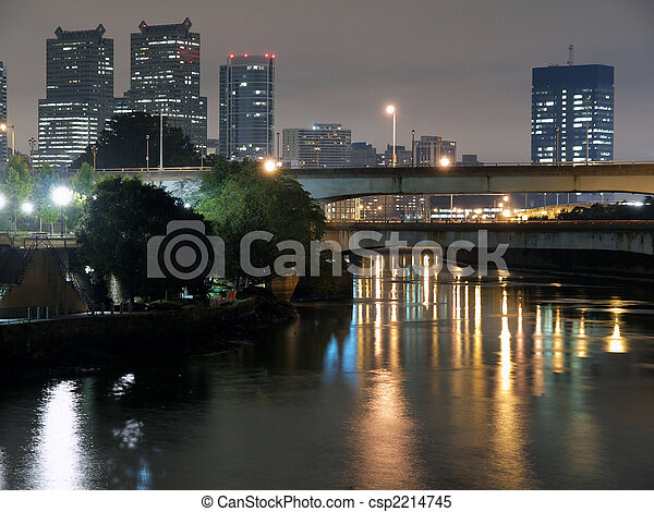Philadelphia River Night - csp2214745