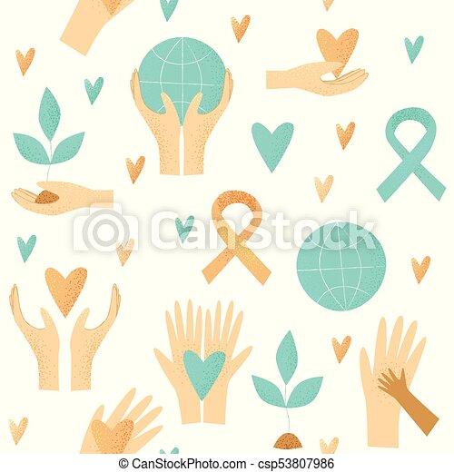 Philanthropy design, vector donation concept - csp53807986