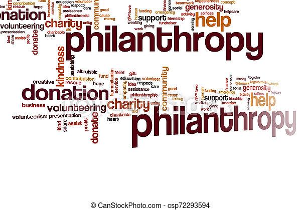 philantropy, nuage, mot - csp72293594
