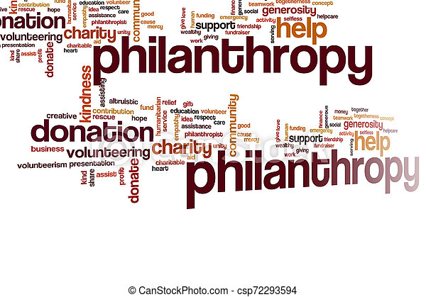 Philantropy word cloud - csp72293594