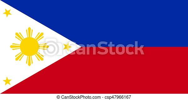 Philippine flag vector - csp47966167