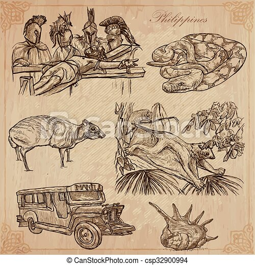 Philippines - An hand drawn vector pack - csp32900994
