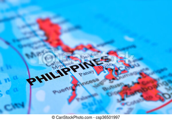 Philippines Islands on the Map - csp36501997