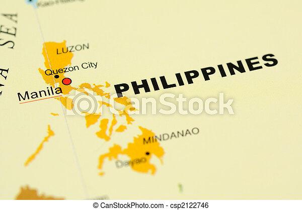 Philippines on map - csp2122746