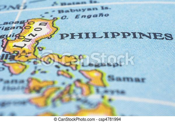 philippines on map - csp4781994