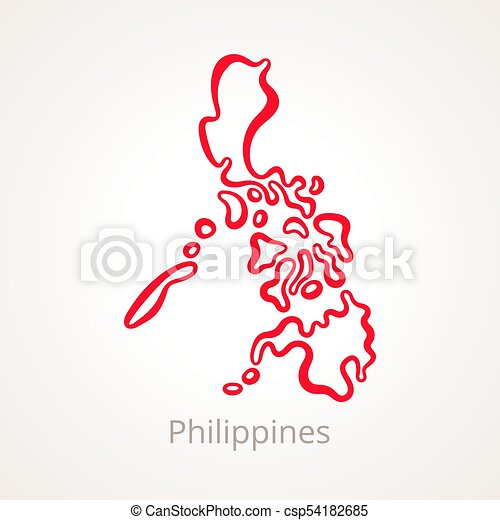 Simple Philippines Map.Philippines Outline Map Outline Map Of Philippines Marked With