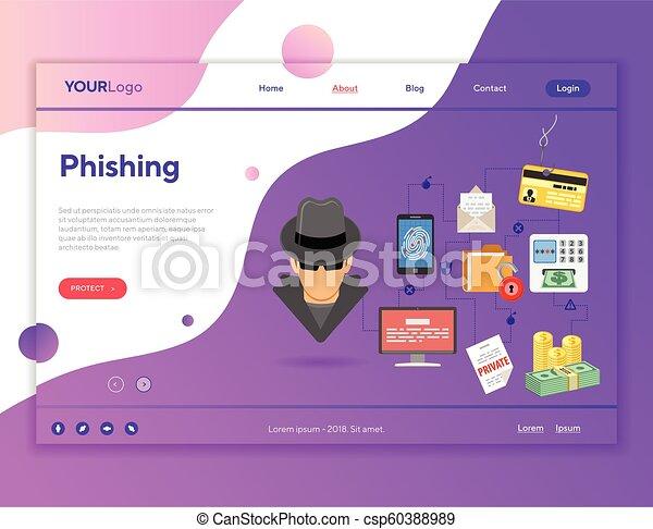 Phishing Cyber Crime Concept - csp60388989