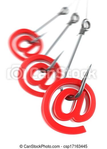 Phishing e-mail. 3d - csp17163445