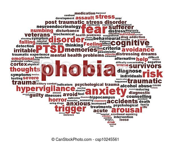 Phobia symbol isolated on white background - csp10245561
