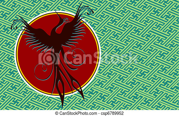 Phoenix bird background - csp6789952