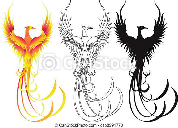 Phoenix bird collection - csp8394770