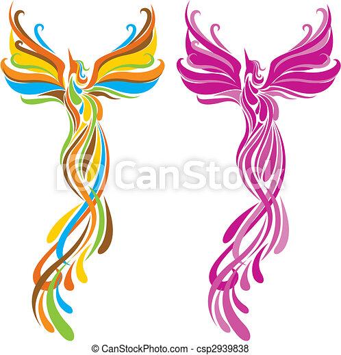 fashion phoenix bird pattern design