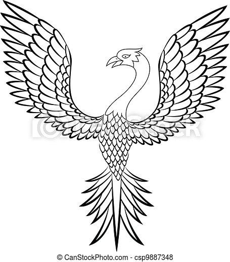 Phoenix bird - csp9887348