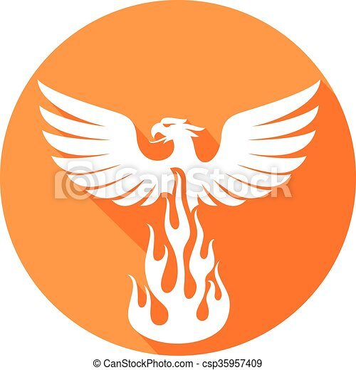 phoenix bird flat icon - csp35957409