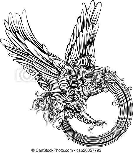 Phoenix bird or eagle - csp20057793