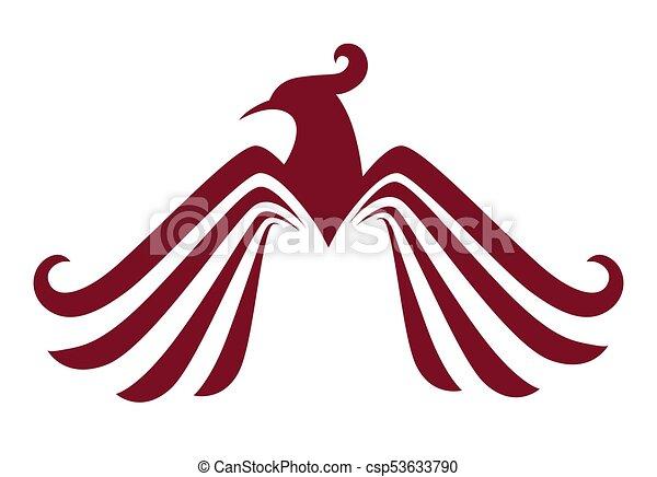 Phoenix Bird Or Fantasy Eagle Logo Template For Security Or