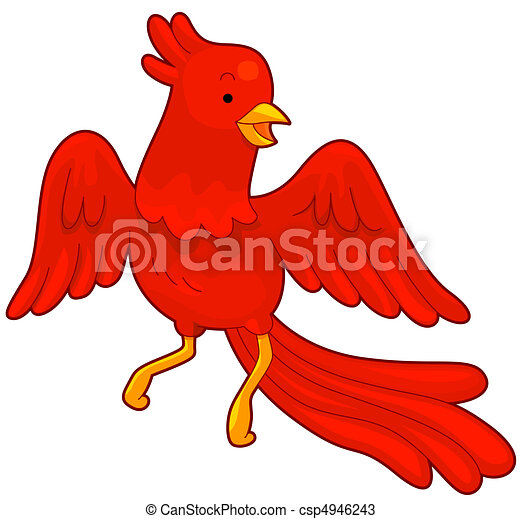 Illustration of a red phoenix in flight drawings search clipart phoenix csp4946243 voltagebd Choice Image