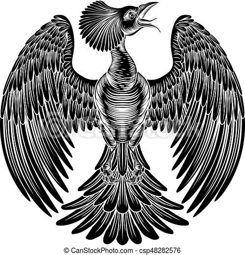 Phoenix fire bird design - csp48282576